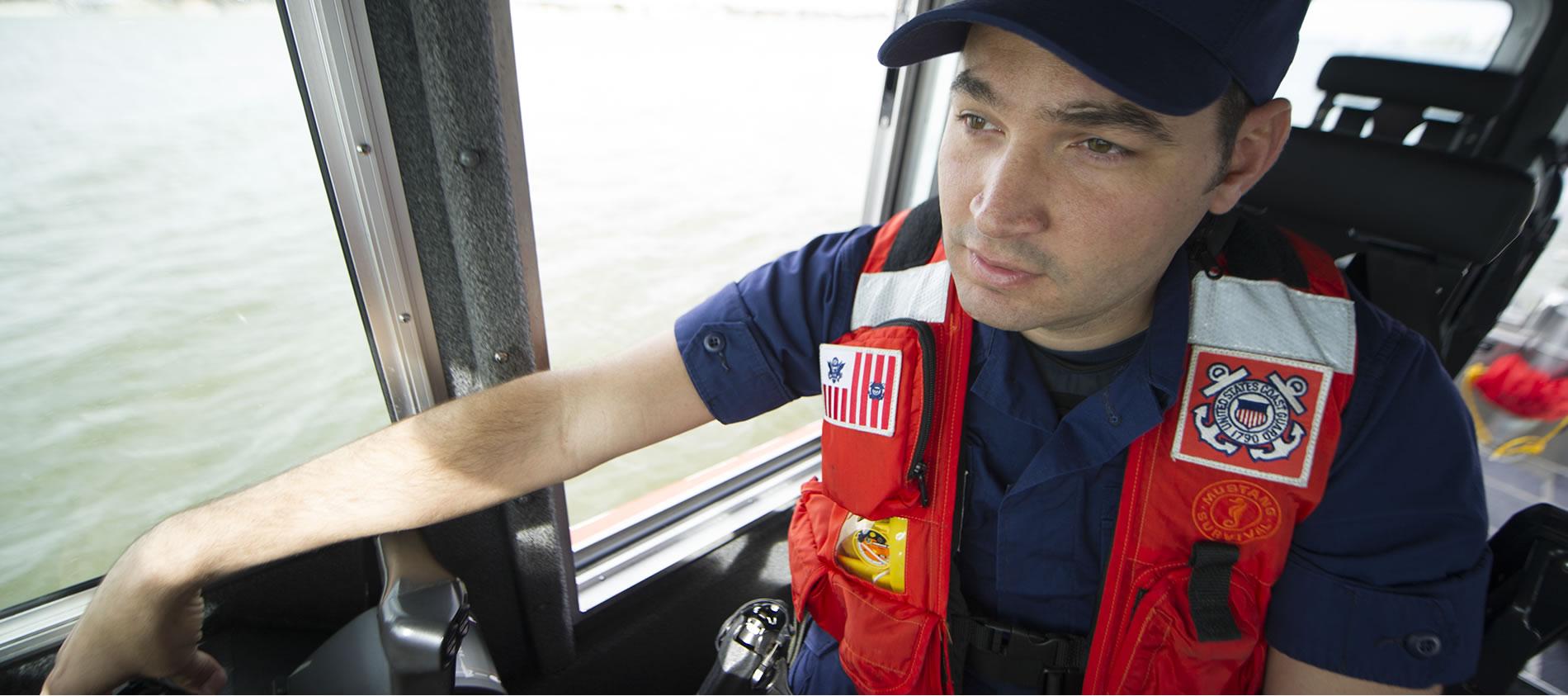 CoastGuard Active Duty member on boat