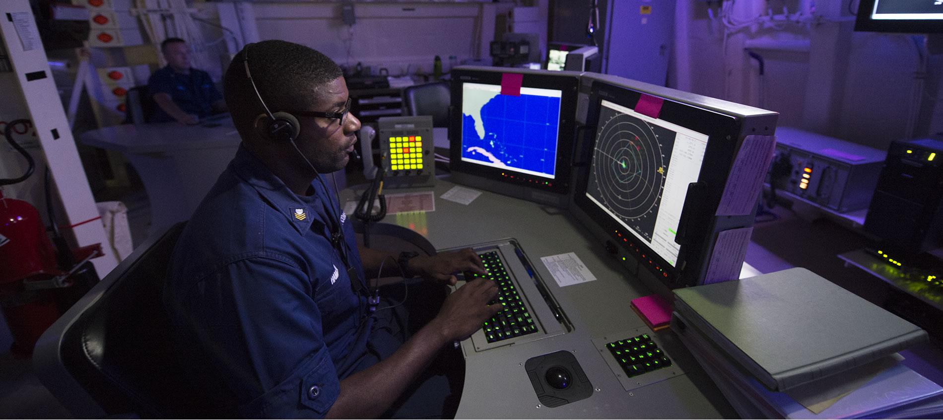 CoastGuard Active Duty member in control room